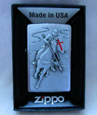 More details for zippo lighter -  crusader attack on horse  - new
