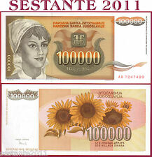 YUGOSLAVIA JUGOSLAVIA  -  100000 100.000  DINARA  1993 -  P 118  -   FDS / UNC