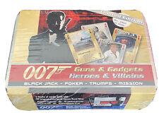 007 James Bond 'Guns & Gadgets-Heroes & Villains' Ltd Edition Card Set Tin - New