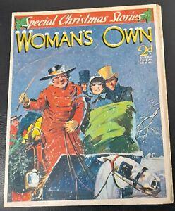Vintage Woman`s Own magazine Dec 25th 1937 Christmas edition Barbara Hedworth