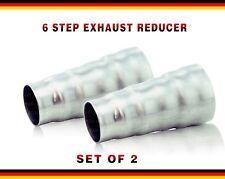 Acciaio scarico 6/step riduttore adattatore connettore del tubo cono universale