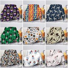 Cute Animal Pet Dog Blanket Soft Warm Flannel Plush Blackets Sofa Couch Bedding