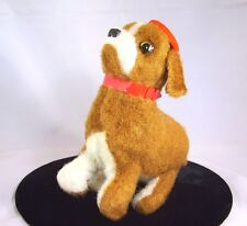 Wind Up Toy French Puppy Dog VTG Tin Plush Backflip Flipping Jumping Japan Works