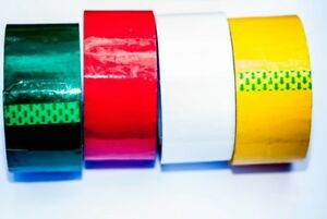 RED Coloured Tape 75M x 48mm 75meter Packaging Packing Tape 6 | 12 | 36 Rolls