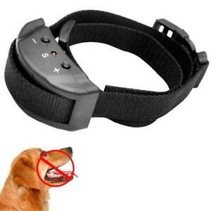 Collar de entrenamiento ultrasónico para perros contra ladridos, con USB