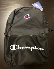 Champion Black Dark Gray Manuscript Backpack