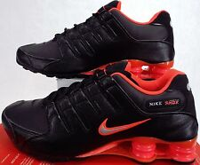 New Mens 8.5 NIKE Shox NZ  Black Bright Crimson Shoes $120 378341-006