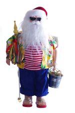 Beach Bum Hippie Hippy Santa Claus Outdoor Ocean Christmas Statue Figurine NEW
