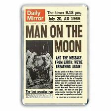 RETRO DAILY MIRROR -MAN ON THE MOON -JULY 21st 1969 Jumbo Fridge / Locker Magnet