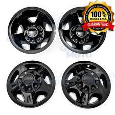 08-10 GMC Sierra 3500 DUALLY ONLY Black Wheel Simulator Liner+Center Caps Cover