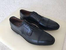 New!! Allen Edmonds 11.5 D Black Riverside Leather Shoes Captoe Bluchers $395