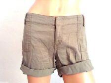 Bcbgirls Shine Glitter Roll Shorts 8 Medium Cuffed Army Green Pants Signature