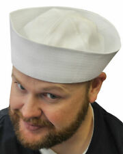 Fancy Dress Sea Captain Set Navy Nautical Hat Beard Pipe Mens Sailor Popeye