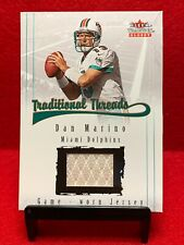 """Dan Marino """"Game Used Relic""""~2001 Fleer Tradition Glossy """"National Threads"""""""
