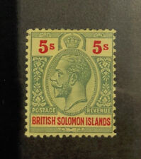 SOLOMON ISLANDS 39  Very  Nice  Mint  Light  Hinged  GEORGE V  UPTOWN od M17