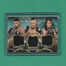 2014 Topps Knockout Triple Relic Card CONOR MCGREGOR THATCH EYE 03/18