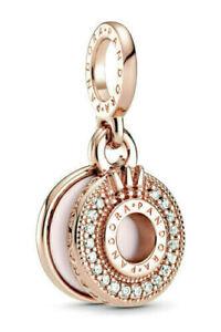 Authentic Pandora 14k Rose Gold # 789055C01Sparkling Pavé Crown O Dangle Charm