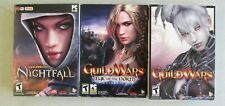 SET OF 3 GUILD WARS - NIGHTFALL - EYE OF THE NORTH EXPANSION PC DVD-ROM GAMES
