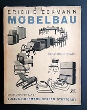 Erich Dieckmann MOBELBAU 1931 Bauhaus Tubular Steel Furniture Bentwood Modernist