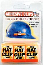 Adhesive Pencil Clip Holders Hard Hat 3 Pack Orange Tool Carpenter Craftsman Usa