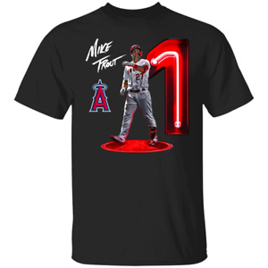 Men's Mike Trout Los Angeles Angels of Anaheim No 1 T-Shirt S-5XL