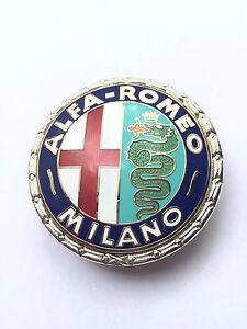 ALFA ROMEO MILANO BADGE EMBLEM METAL ENAMELLED Screwed NEW