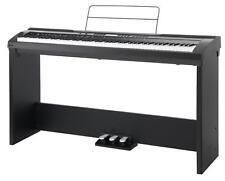 PIANO NUMERIQUE STAGEPIANO ELECTRIQUE 88 TOUCHES USB MIDI AUX SUPPORT SET NOIR