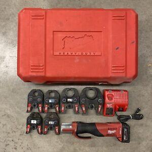 Milwaukee M18 2673-22 1/2''- 2'' Force Logic Press Tool Kit w/ 6 Jaws & Case