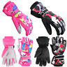 Winter Kids Ski Gloves Snow Warm Snowboard Waterproof  Boys Girls Outdoor Sports