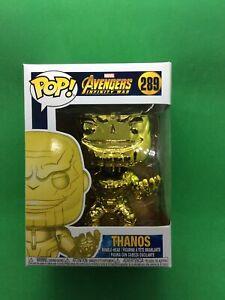 Funko Pop! Marvel Avengers Infinity War THANOS Gold Chrome  #289