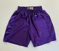 EASTBAY retro men's 90s purple silky basketball sports shorts size S