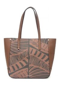 NWT Tommy Bahama Drake Bay Leather Tote, Rum Color - MSRP: $268.00
