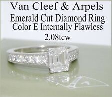 VAN CLEEF & ARPELS PLAT EMERALD CUT DIAMOND RING INTERNALLY FLAWLESS E COLOR GIA
