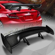 "TYPE-3 Universal 57"" Carbon Fiber Adjustable Rear Trunk GT-Style Spoiler Wing"