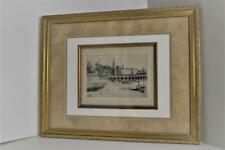 Cadwallader Washburn Etching of Menton France Pencil Signed Framed May 1928