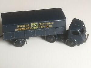 AUTHENTIQUE DINKY TOYS ref: 32AB Tracteur Panhard SNCF Made in France Meccano