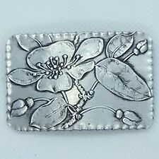 """Vintage Wendell August Forge Aluminum Apple Blossom Brooch Pin 2.5"""""""