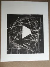 "Mel Bochner ""White Island"" Hand Signed & Numbered Aquatint Etching 1985 !!!"