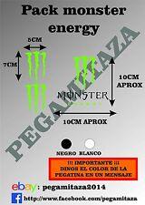 3x Pegatinas Monster Sticker Vinilo Adhesivo coche, moto, casco