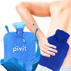 Pivit Hot Water Bottle With Cover PVC Ice Bag Warm Relaxing Heat Cold Therapy