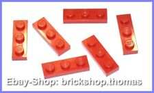 Lego 6 x Platte 1 x 3 Platten rot - 3623 - red Plate Plates - NEU / NEW