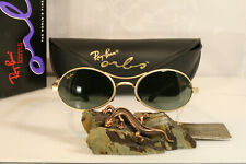 Original BL vintage Ray-Ban USA Bausch & Lomb Orbs Ellipse Arista Gold w2177