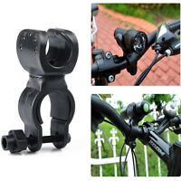 360° Rotation LED Torch Bike Clip Bicycle Flashlight Mount Holder Portable