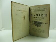 GRAVINA Vincenzo, Della Ragion poetica. Libri due