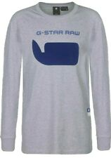 G-STAR RAW men's Seii Long Sleeve T SHIRT R T Organic Cotton Grey Heather LARGE