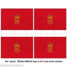 "NAVARRE Flag SPAIN Navarra, Nafarroa Spanish 50mm (2"") Vinyl Stickers Decals x4"