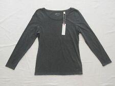 Esprit Langarm Basic Shirt Gr.M 38 Grau Neu