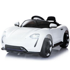 Kinderauto mit Fernbedienung Elektroauto Kinderfahrzeug Kinderwagen Weiß