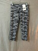 Fabletics Womens Black White Power Lite GIA Crop Activewear Legging Size S