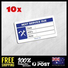Service Record Date Due Mechanic Plumber Electrician Gas Stickers Labels Seals